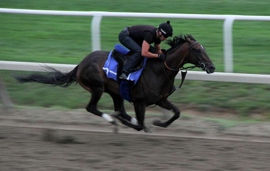 Was taken 08/-8/2013 early morning training at the Oklahoma Track (Pat Marzinsky) Photo: Patricia Marzinsky, @2013 Pat Marzinsky