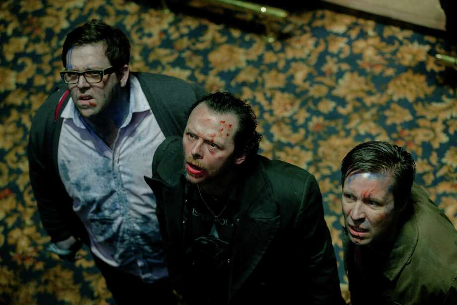 "Nick Frost (from left), Simon Pegg and Paddy Considine star in ""The World's End."" Photo: Focus Features / McClatchy-Tribune News Service"