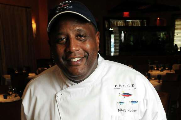 Chef Mark Holley at Pesce Thursday June 17,2010. (Dave Rossman Photo)