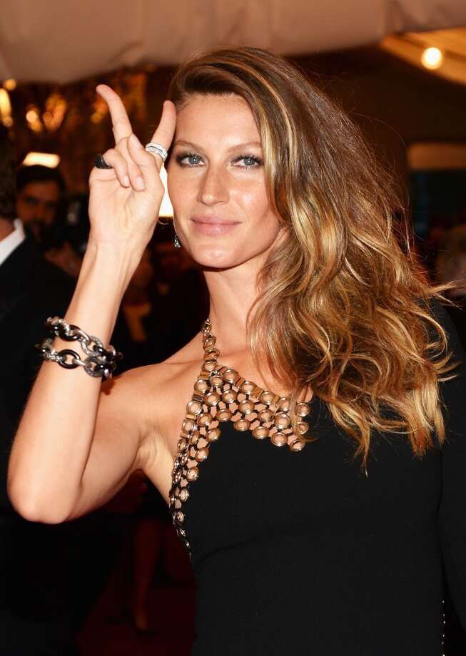 No. 1: Gisele Bündchen takes top honors with  $42 million, thanks to contracts with H&M and Chanel, among others. Photo: Dimitrios Kambouris, Getty Images