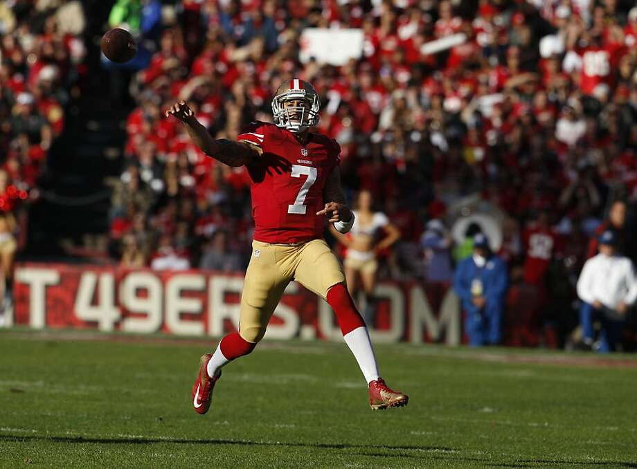 The fewer receiving options Colin Kaepernick has, the more he'll be forced to run. That leaves him vulnerable to injury, so: Who's his backup? Photo: Carlos Avila Gonzalez, The Chronicle