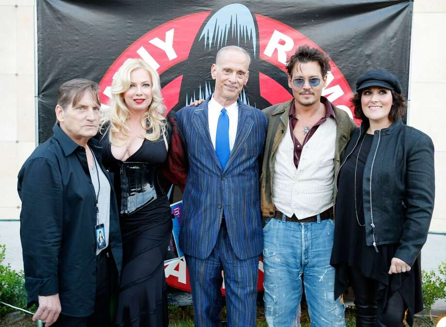 (l-r) Actor Joe Dallesandro, actress Traci Lords, director John Waters, actor Johnny Depp and actress Ricki Lake attend the9th Annual Johnny Ramone Tribute at Hollywood Forever on August 18, 2013 in Hollywood, California.  (Photo by Sean tSabhasaigh/Getty Images) Photo: Sean TSabhasaigh, Getty Images
