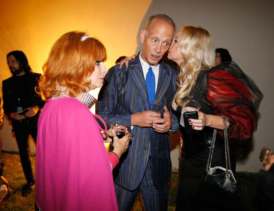 Linda Ramone (L), director John Waters (C) and actress Traci Lords converse backstage at the 9th Annual Johnny Ramone Tribute at Hollywood Forever on August 18, 2013 in Hollywood, California.  (Photo by Sean tSabhasaigh/Getty Images) Photo: Sean TSabhasaigh, Getty Images