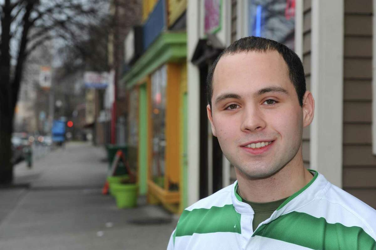 Alexander Portelli Albany mayoral candidate and proprietor of Portelli?s Joe N? Dough on Central Avenue on Friday March 15, 2013 in Albany, N.Y. (Michael P. Farrell/Times Union)