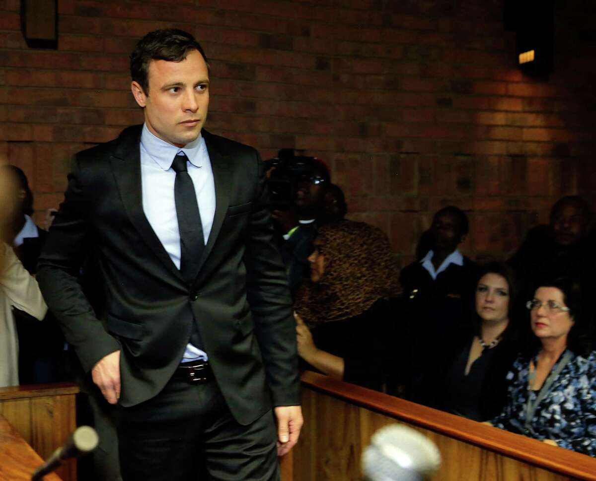 Double-amputee Olympian Oscar Pistorius says he killed his girlfriend by accident on Valentine's Day.