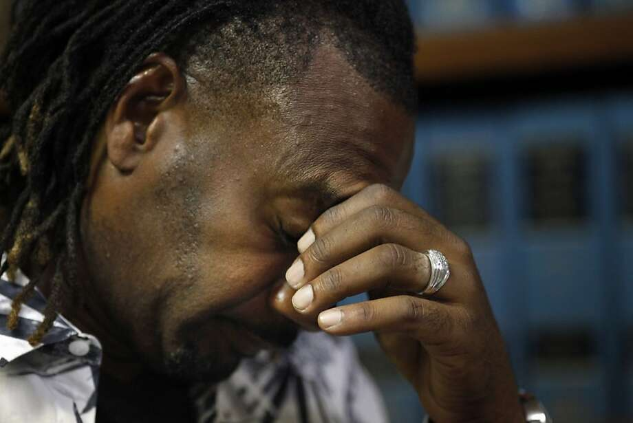Orville Brown pauses during a news conference in Vallejo as he describes what happened when he was driving the ill-fated limousine that caught fire May 4, killing five of his passengers. Photo: Lacy Atkins, The Chronicle