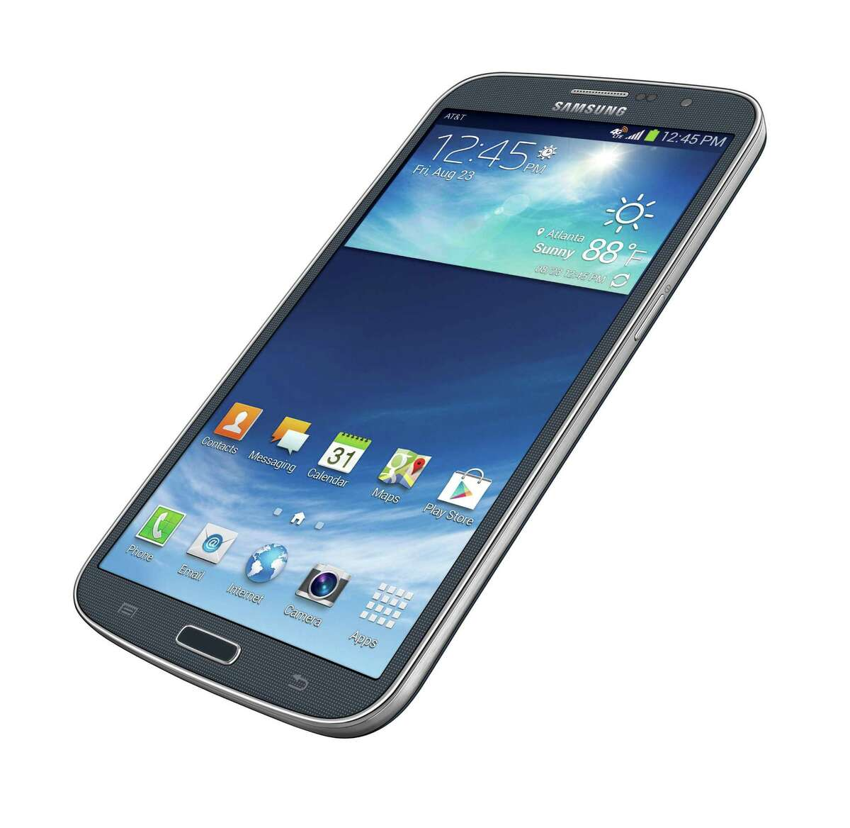 This photo provided by AT&T shows the Samsung Galaxy Mega. With a screen measuring 6.3 inches (16-centimeter) diagonally, the Galaxy Mega is almost as big as a 7-inch (17.8-centimeter) tablet computer. The difference: It makes phone calls.
