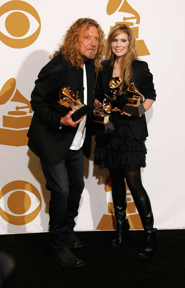 Musicians Robert Plant and Alison Krauss pose in the press room at the 51st Annual GRAMMY Awards held at the Staples Center on February 8, 2009 in Los Angeles, California. Photo: Michael Buckner, WireImage / 2009 The Recording Academy
