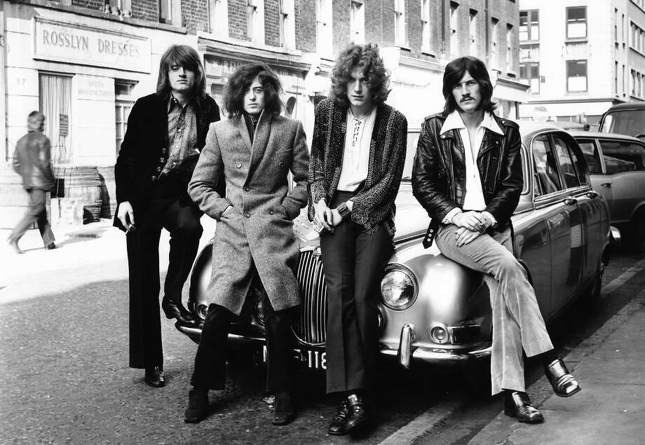 Led Zeppelin with John Paul Jones and Jimmy Page and Robert Plant and John Bonham in 1968. Photo: Dick Barnatt, Redferns / Redferns