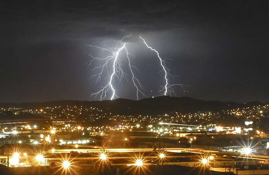In this Aug. 19, 2013, file photo, lightning strikes are seen over San Francisco and the Bay Area. Photo: Steve Byrne, Stevebyrnephotography.com