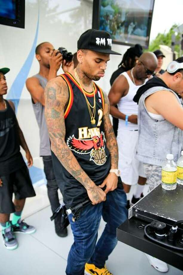 Singer Chris Brown performed at Liquid Sundays at Foxwoods Resort Casino after being hit with 1,000 additional hours of community labor last week.
