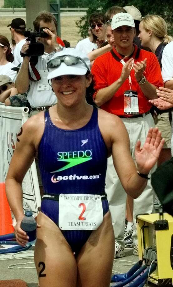 Jennifer Gutierrez, a graduate of Holmes High School, competed at the first Olympic triathlon at the 2000 Summer Olympics. She was the first American to qualify as a triathlete for the 2000 Olympics.  Photo: BILL JANSCHA, AP / AP