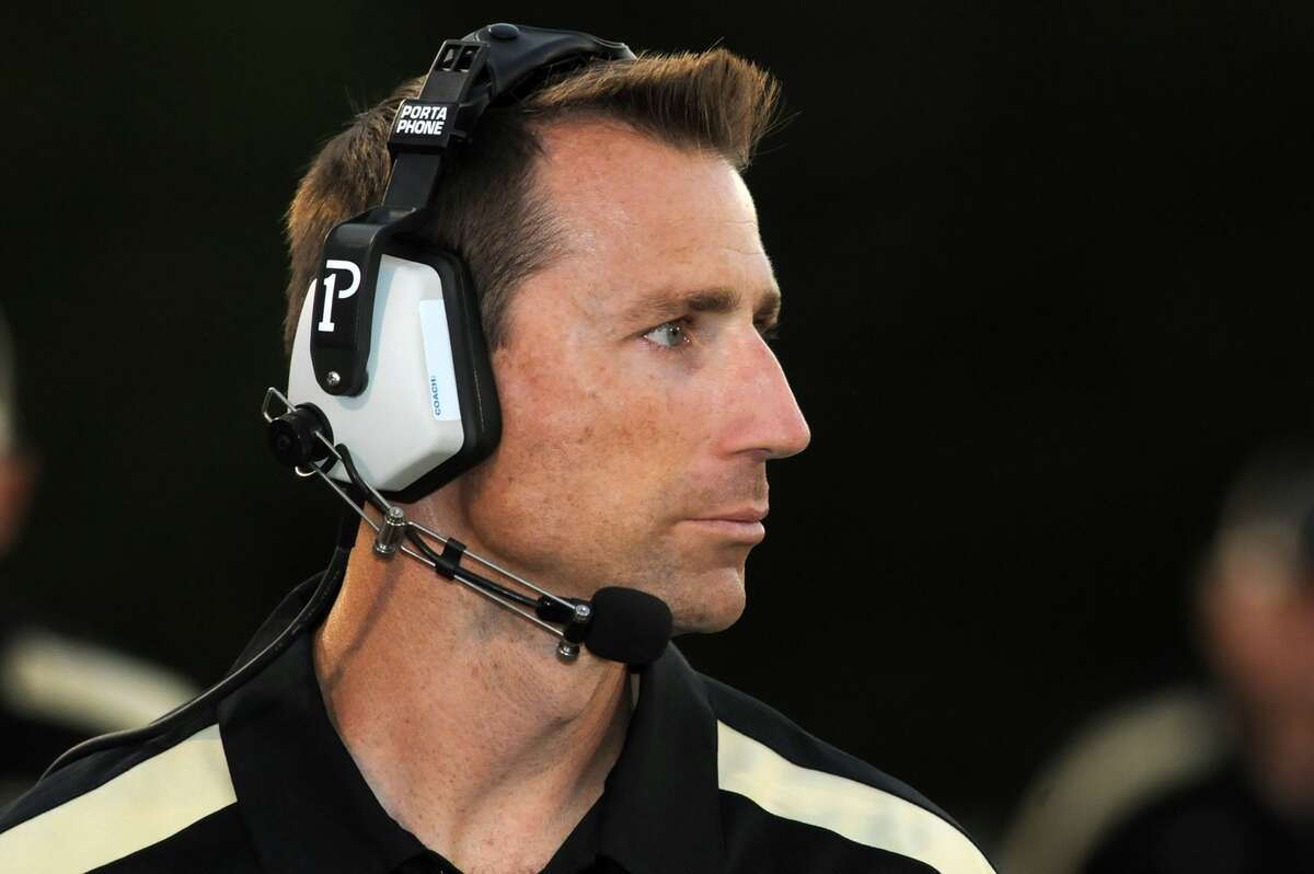 Woodlands Christian Academy Head Football Coach Nate Sanford (Freelance photo by Jerry Baker)
