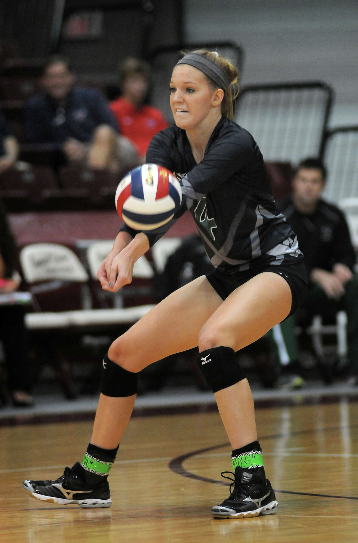 Clear Falls outside hitter Katie Bludau is averaging 3.0 kills per game for the Lady Knights.