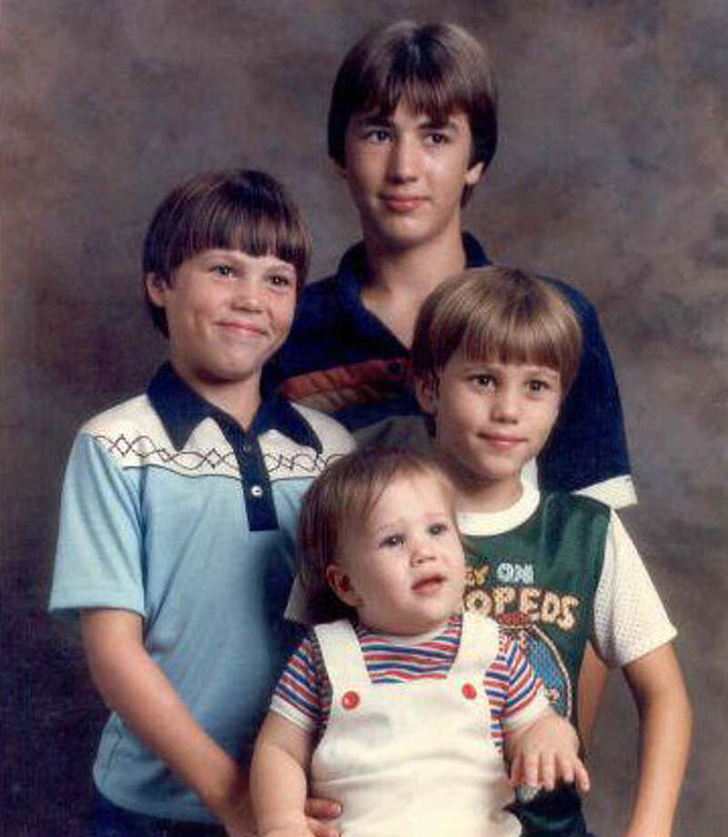 Clockwise from top: Alan (an older brother not on the show), Willie, Jep and Jase. Photo: Courtesy Of The Robertson Family/ A&E