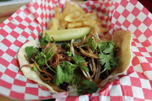 Korean barbecue tacos were a recent special at the Beat Street Coffee Co. www.facebook.com Photo: Jennifer McInnis