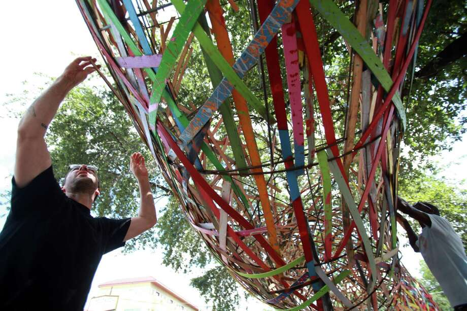 The Funnel Tunnel is a public art project to increase the cultural, social, and economic value of the Montrose area, according to the Art League Houston.  Photo: Mayra Beltran, Houston Chronicle / © 2013 Houston Chronicle
