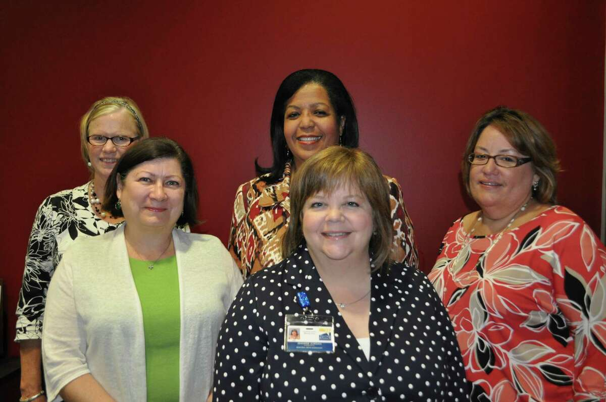 New principals at the elementary level in the Spring Branch Independent School District are: Pine Shadows Elementary's Joyce Olson, left, Hunters Creek Elementary's Robye Snyder, Meadow Wood Elementary's Pamela Redd, Memorial Drive Elementary's Jennifer Jordan and Edgewood Elementary's Vivian Pratts. Not shown is Highly Gifted Academy's director, Lynda Maxwell.