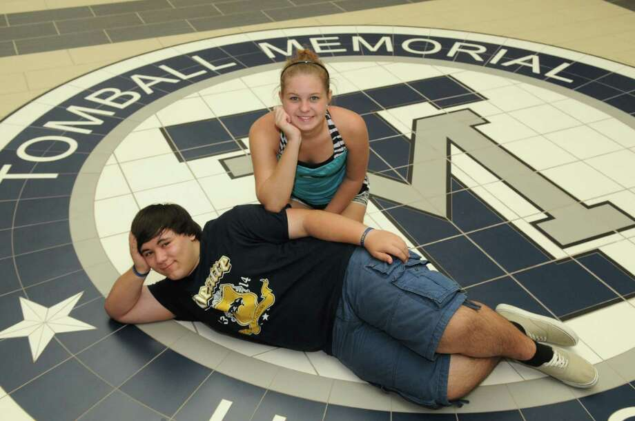 Ashlynne Boles, 17, and Nick Hudzinski, 17, are members of Tomball Memorial High School's first senior class, graduating in 2014. Photo: Jerry Baker, Freelance