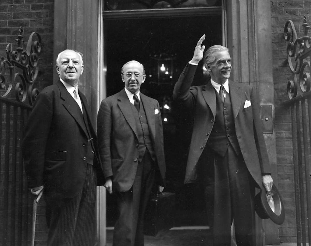FILE - August 20, 2013: Sixty years since the overthrow of Iranian Prime Minister Mohammad Massadegh, newly declassified documents acknowledge the CIAsrole in the 1953 Iranian coup. 2nd October 1953: L to R Lord Woolton (1883 - 1964); Leader of the House of Lords, Lord Salisbury (1893 - 1972) and Foreign Secretary, Anthony Eden (1897 - 1977) entering No 10 Downing Street for a cabinet meeting. (Photo by Topical Press Agency/Getty Images)