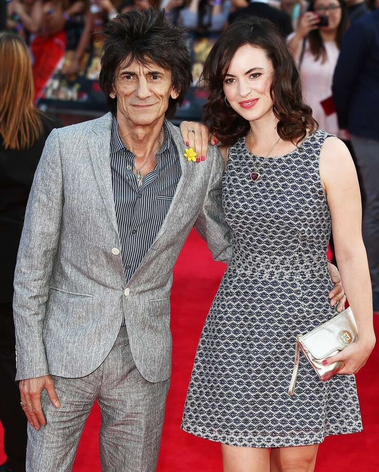 Ronnie Wood and Sally Humphreys attend the World Premiere of 'One Direction: This Is Us' at Empire Leicester Square on August 20, 2013 in London, England.  (Photo by Tim P. Whitby/Getty Images) Photo: Tim P. Whitby, Getty Images