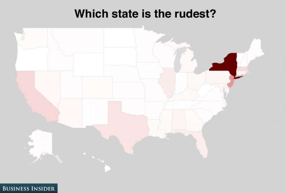New York and New Jersey are considered the rudest states. Photo: Business Insider
