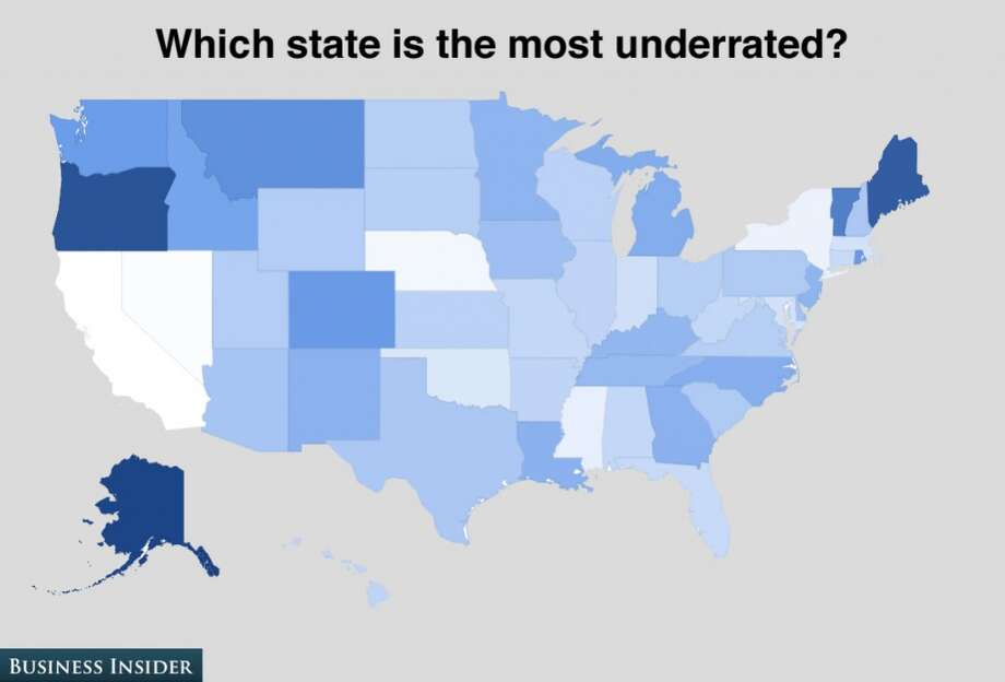 Oregon and Maine are considered the most underrated states. Photo: Business Insider