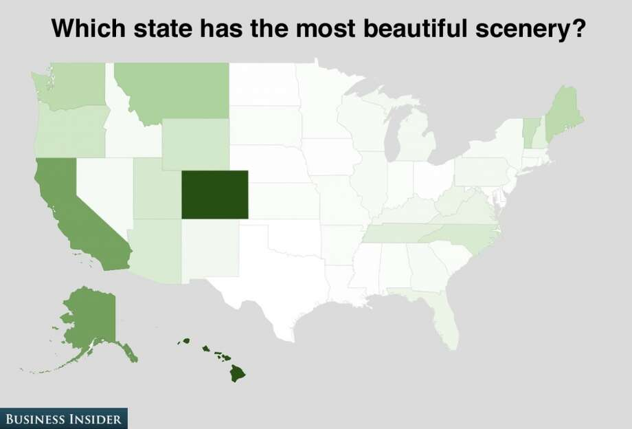 Colorado is considered to have the prettiest scenery. Apparently these respondents have never driven through scenic Odessa, Texas. Photo: Business Insider