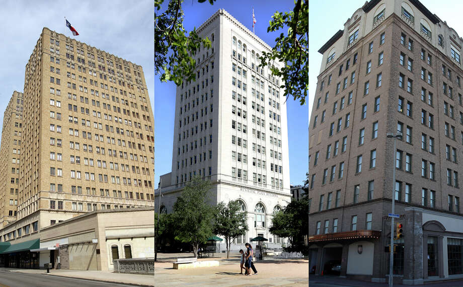 FICTIONWhile San Antonio was not the birthplace of air conditioning, the city did set many of the country's air conditioning firsts: The first air-conditioned office building (Milam Building, 1928, left); the first air-conditioned bank (Frost Bank, 1928, center); the first air-conditioned hotel (St. Anthony, 1936, right) and the first air-conditioned Catholic Church (St. Cecilia's, 1950, not pictured).Related Article: Cityscape: Milam BuildingRelated Article: Cityscape: Municipal Plaza Building Photo: San Antonio Express-News File Photos