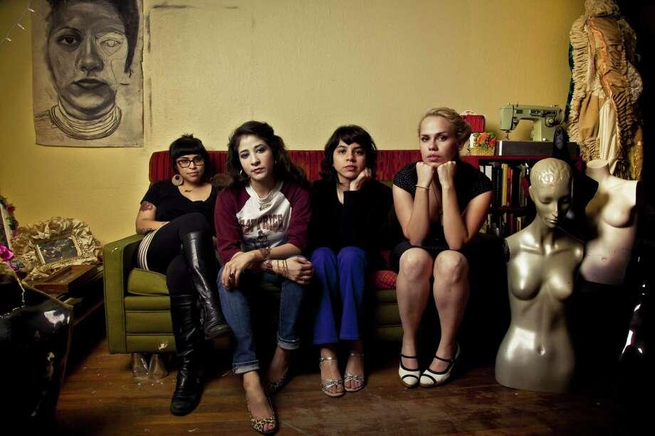 Mari Hernandez (from left), Kristin Gamez, Sarah Castillo and Ruth Leonela Buentello make up the San Antonio-based arts collective Más Rudas.