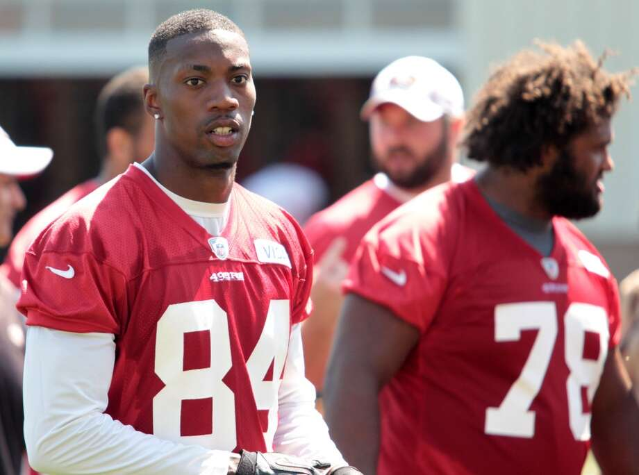 New 49ers receiver Jon Baldwin (84) attends practice at the team's headquarters in Santa Clara, Calif., on August 20, 2013. Photo: Mathew Sumner, Special To The Chronicle