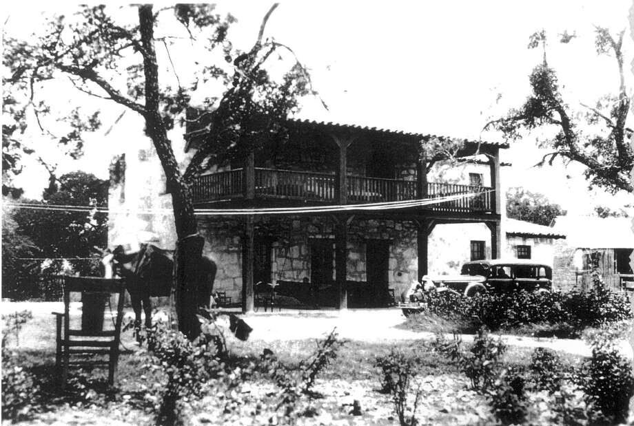 Rumors persist that Joseph Huebner still haunts the site of the Huebner-Onion Homestead that he built in 1862 in Leon Valley. This photo of the site was taken around 1930.