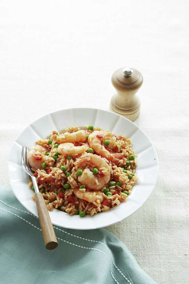 Good Housekeeping recipe for Easy Shrimp Paella. Photo: Kate Mathis