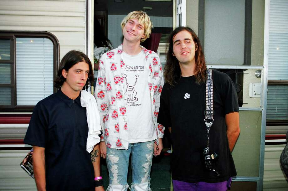 1992: Nirvana arrives for rehearsals. Photo: Jeff Kravitz, FilmMagic, Inc / FilmMagic, Inc
