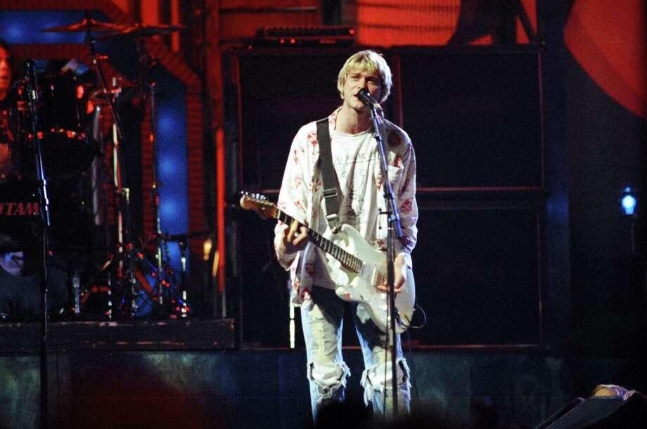 1992: Nirvana during rehearsals. Photo: Jeff Kravitz, FilmMagic,  Inc / FilmMagic, Inc