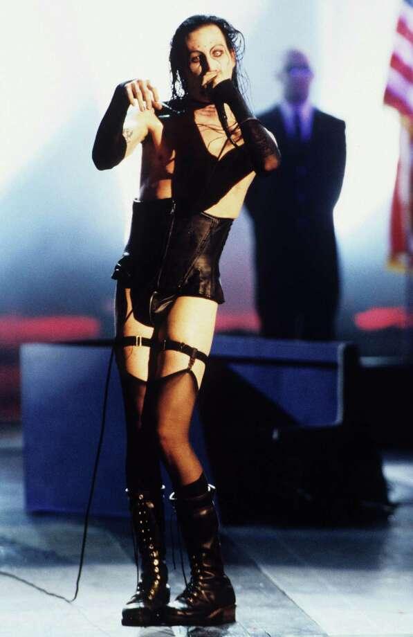 1997: Marilyn Manson performs. Photo: Kevin.Mazur, WireImage / WireImage