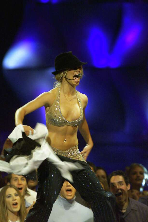 2000: Britney Spears performs. Photo: Dave Hogan, Getty Images / 2001 Getty Images