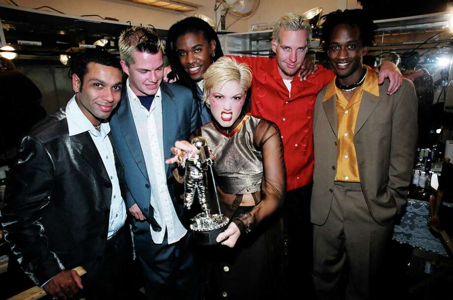 1997: Gwen Stefani, Tony Kanal, Tom Dumont and Adrian Young of No Doubt. Photo: Jeff Kravitz, FilmMagic / FilmMagic, Inc