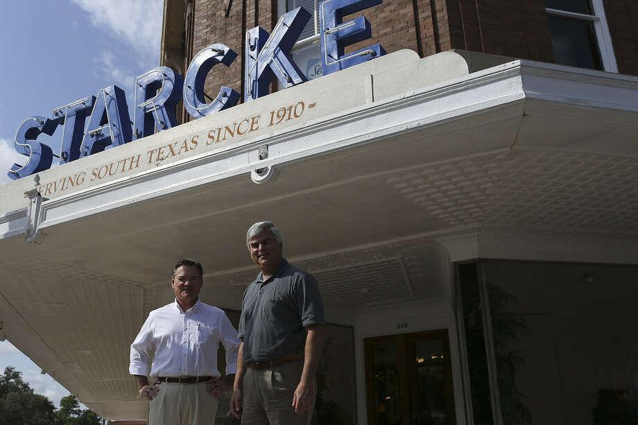 "Brothers Hilmar ""Hil"" Starcke III (left) and Frank Starcke run the family business, the 101-year-old Starcke Furniture Co. Photo: Lisa Krantz / San Antonio Express-News"