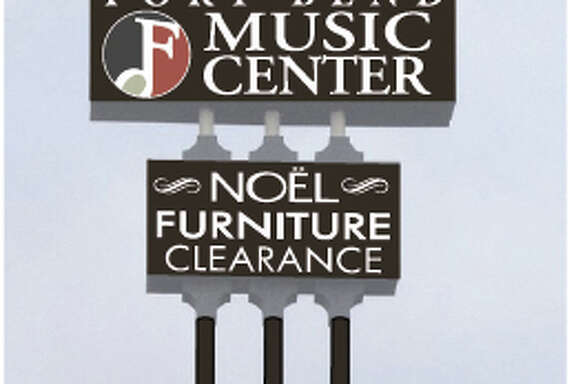 A rendering shows how Fort Bend Music Center's sign will look along U.S. 59 near West U. The 110-foot-tall sign is being restored.