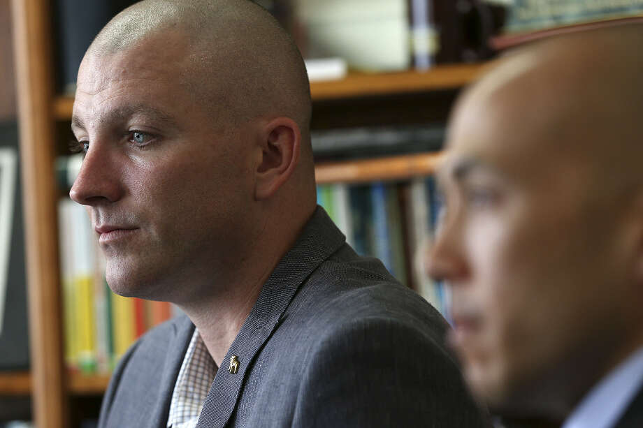 Senior Master Sgt. Phillip Monk said he was reassigned after stating to a commander his opposition to same-sex marriage. Photo: Jerry Lara / San Antonio Express-News