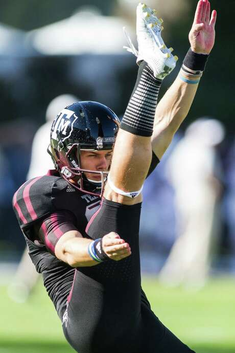 Texas A&M's Drew Kaser hasn't punted in a game since early in the 2011 season, but he has put his big leg on display during the Aggies' fall camp. Photo: Courtesy Photo / Texas A&M Athletics
