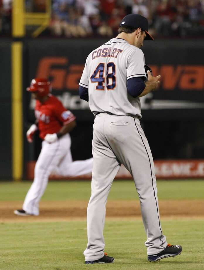Aug. 20: Rangers 4, Astros 2  Houston pitcher Jarred Cosart suffered his first career loss.  Record: 41-84. Photo: Jim Cowsert, Associated Press