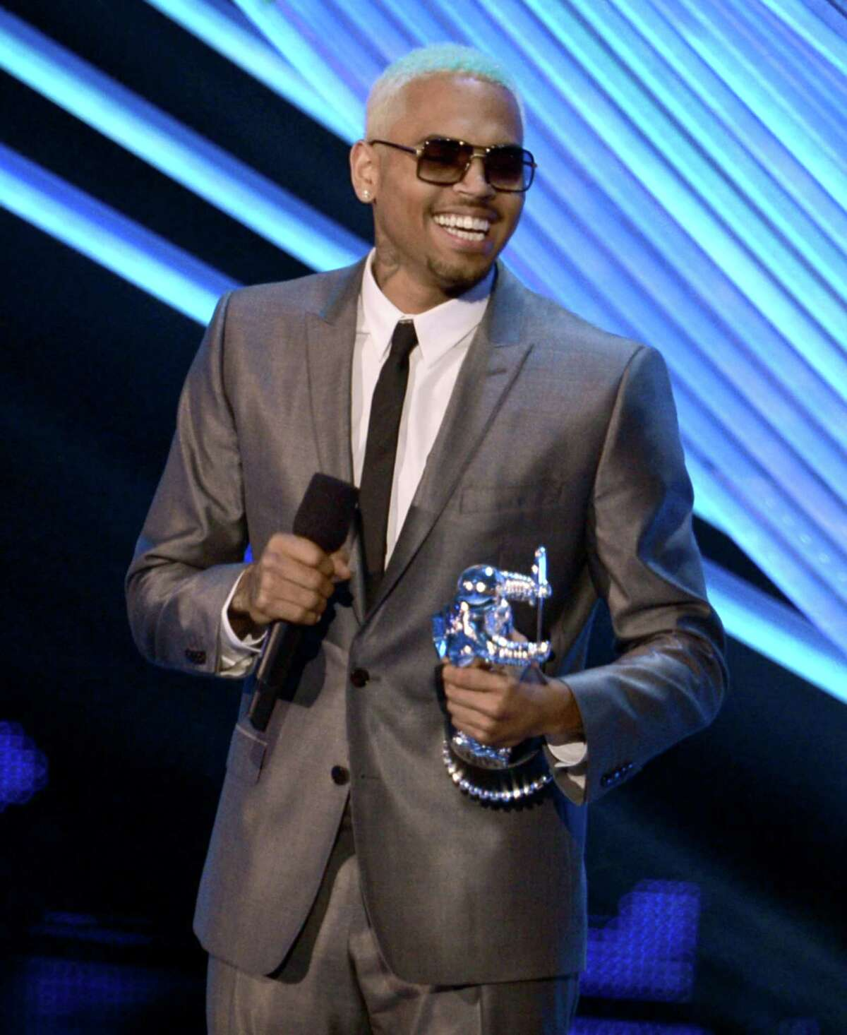 Sunday's MTV Video Music Awards will bring to mind several iconic moments -- not just for the show itself but for pop culture at large. Here's a look back at several years' worth of highlights, starting with singer Chris Brown accepting the award for Best Male Video onstage during the 2012 MTV Video Music Awards at Staples Center in Los Angeles on Sept. 6, 2012.