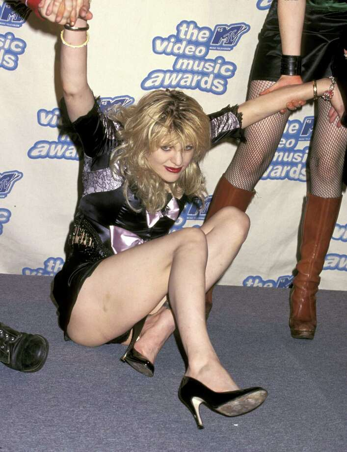 1995: Courtney Love hits the deck. Photo: Ron Galella, WireImage / Ron Galella Collection