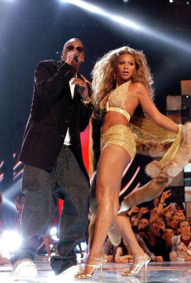 2003: Jay-Z and Beyonce perform. Photo: Jeff Kravitz, FilmMagic / FilmMagic