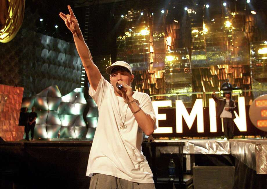 2000:  Rapper Eminem attends rehearsals. Photo: Frank Micelotta, Getty Images / 2004 Getty Images