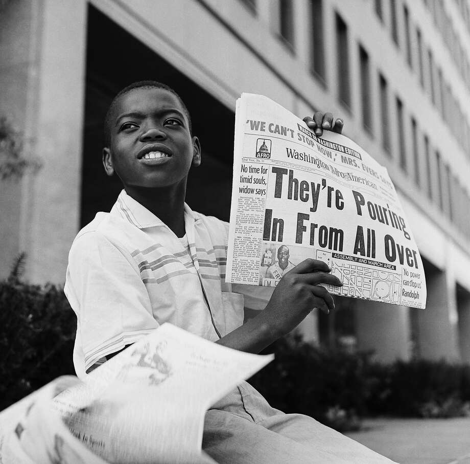Young paperboy during the March on Washington for Jobs and Freedom political rally in Washington. Photo: NBC, NBCU Photo Bank Via Getty Images / 2012 NBCUniversal Media, LLC