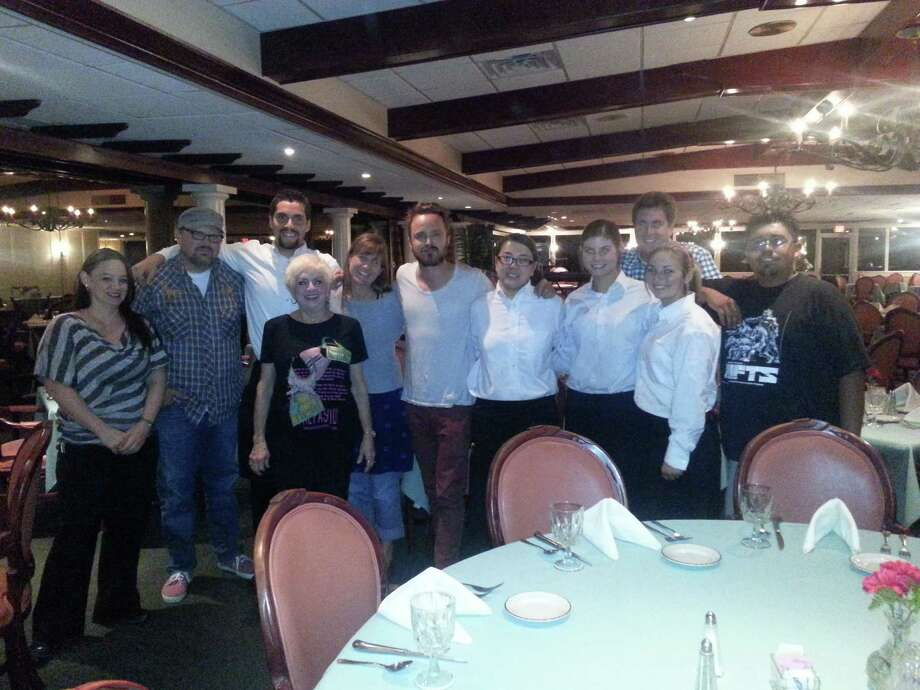 Aaron Paul dines at the Pompano Club in Port Neches. Photo submitted by email.