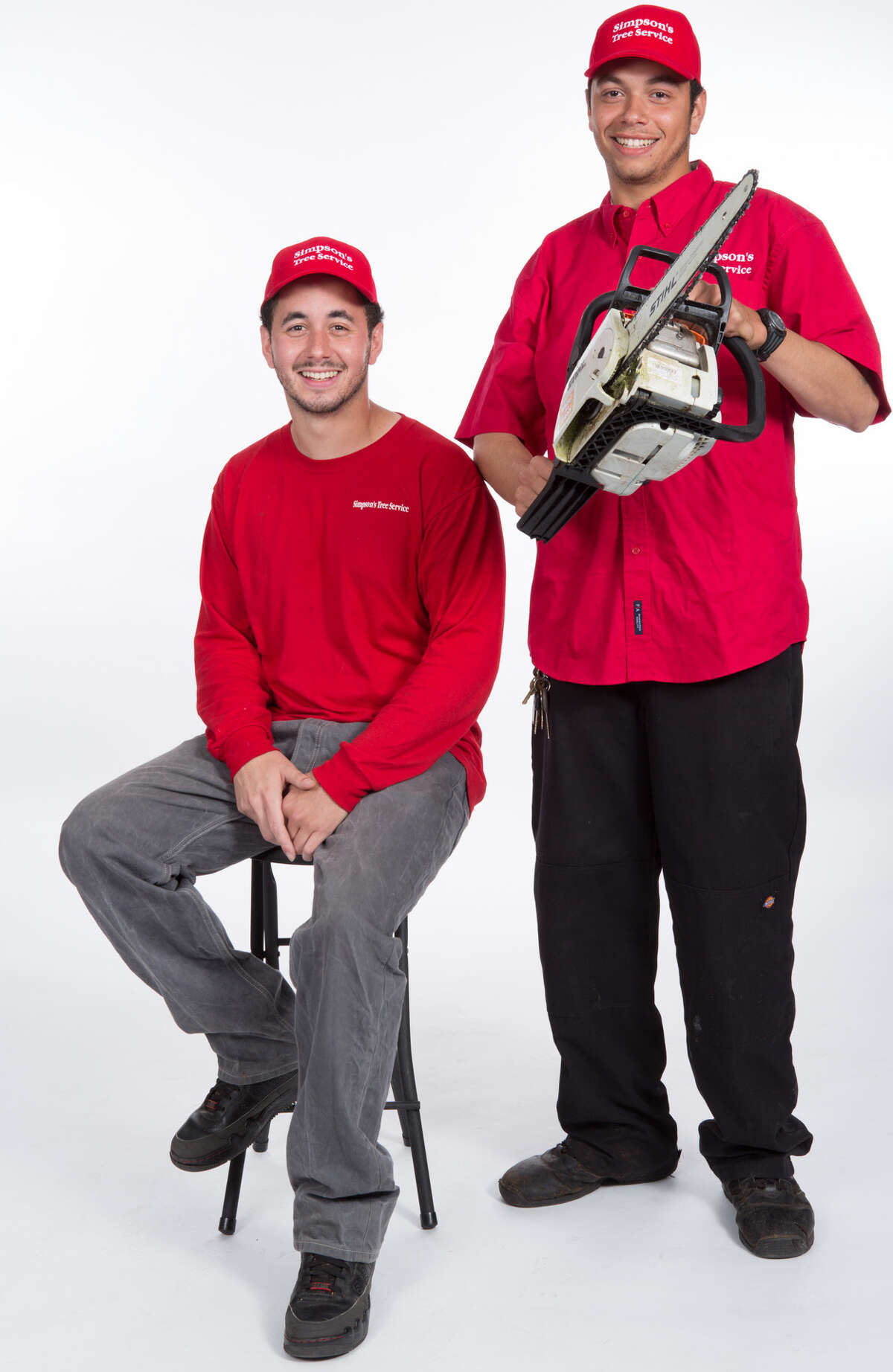 From left, Brandon and Nicholas Simpson manage Simpsons Tree Service, which specializes in tree trimming and removal.